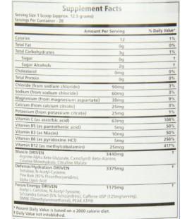 MRM Driven supplément nutritionnel naturel, petits fruits, 350 grammes