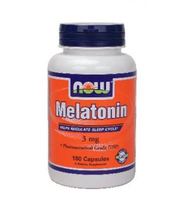 Now Foods Melatonin 3 mg (180 caps) ( Multi-Pack)