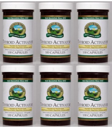 Activator thyroïde Naturessunshine soutien glande thyroïde HerbalCombination Supplément 100 Capsules (pack de 6)