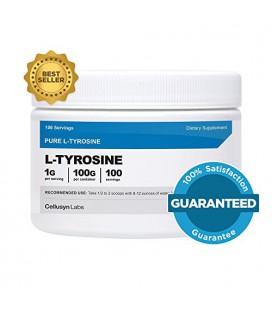 Cellusyn L-Tyrosine poudre [100] - GMS pure L-Tyrosine Poudre - 100 portions, 1G par portion