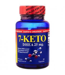 La création de la Terre 7-Keto - DHEA 25mg - contribue à renforcer l'énergie * - 60 Capsules