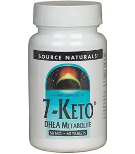 Source Naturals 7-Keto DHEA métabolites 50 mg Tabs
