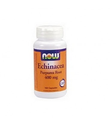 NOW Foods Echinacea, 100 Capsules / 400mg (Pack of 3)