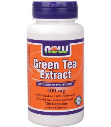 Now Foods Green Tea Extract 400mg 60%, 100-Capsules