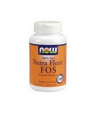 NOW Foods Nutra Flora Fos, 4 Ounces (Pack of 2)