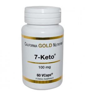 California Gold Nutrition, 7 Keto, 100 mg, 60 Vcaps