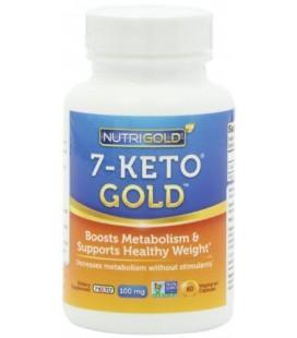 Nutrigold 7-Keto Gold (cliniquement prouvée 7-Keto), 100 mg, 60 légumes. capsules