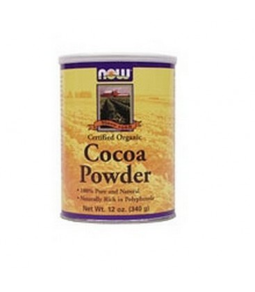 Now Foods Organic Cocoa Powder, 12 Ounces (Pack of 2)