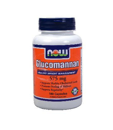 NOW Foods, GLUCOMMANAN 575MG 180 CAPS ( Multi-Pack)