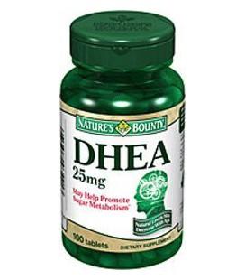 Pack spécial de 5 NATURES BOUNTY DHEA 25mg 100 comprimés