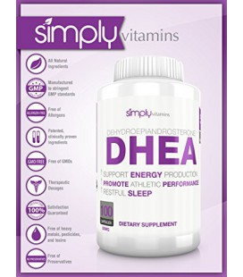 Il suffit de vitamines DHEA 50mg 100 Capsules - Favorise des niveaux sains hormonaux chez les hommes et les femmes - Plus senti