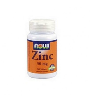 NOW Foods Zinc Gluconate, 100  Tablets / 50mg (Pack of 4)