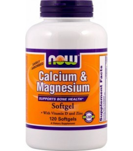NOW Foods - Calcium & Magnesium 240 softgels