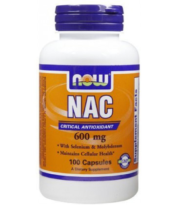 Now Foods NAC 600mg, 100 caps (Pack of 2)