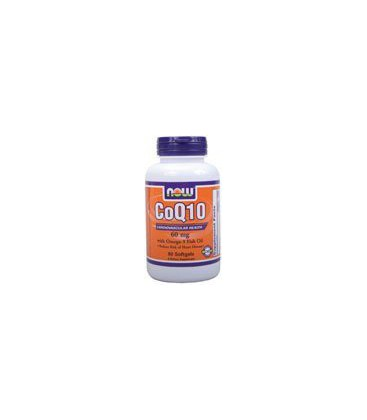 Now Foods - Co Q 10 With Omega-3 Fish Oil, 60 mg, 60 softgels