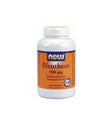 NOW Foods Eleuthero, 250 Capsules / 500mg (Pack of 2)