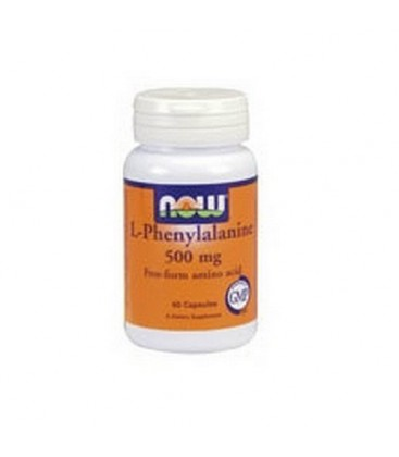 NOW Foods L-phenylalanine, 60 Capsules / 500mg (Pack of 3)