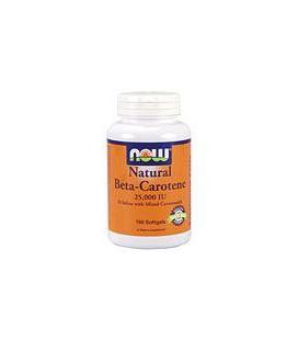 Natural Beta Carotene 25,000 IU 180 Softgels
