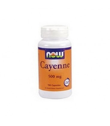 NOW Foods Cayenne, 100 Capsules / 500mg (Pack of 3)