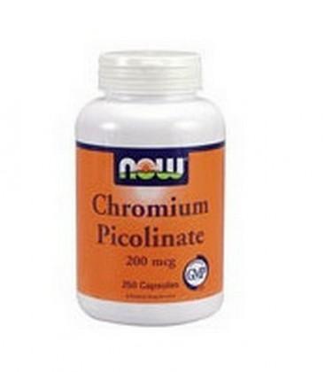 Now Foods Chromium Picolinate 200mcg, 250 Capsules (Pack of 2)
