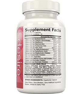 Désir féminin Amélioration de la libido, 60 capsules végétariennes (Formula pur pour Stimuler bien-être sexuel et Drive)