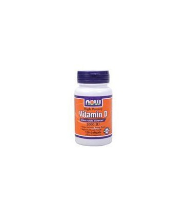 Now Foods Vitamin D-3, 120 Sgels, 2000 IU